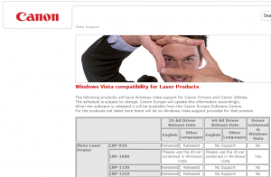 compatibilité canon windows 7 en 64 bits