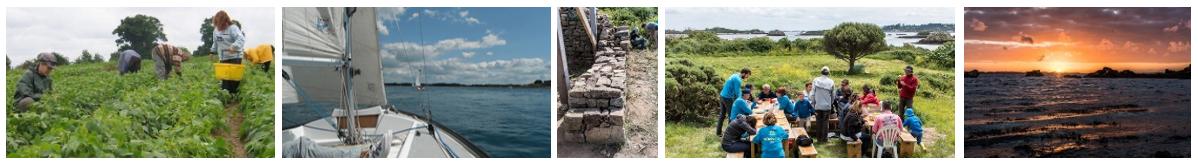 Voile et initiation à la permaculture sur l'île verte, août 2018 @ Sur l'ïle verte, près de Bréhat, au large de Paimpol | Paimpol | France